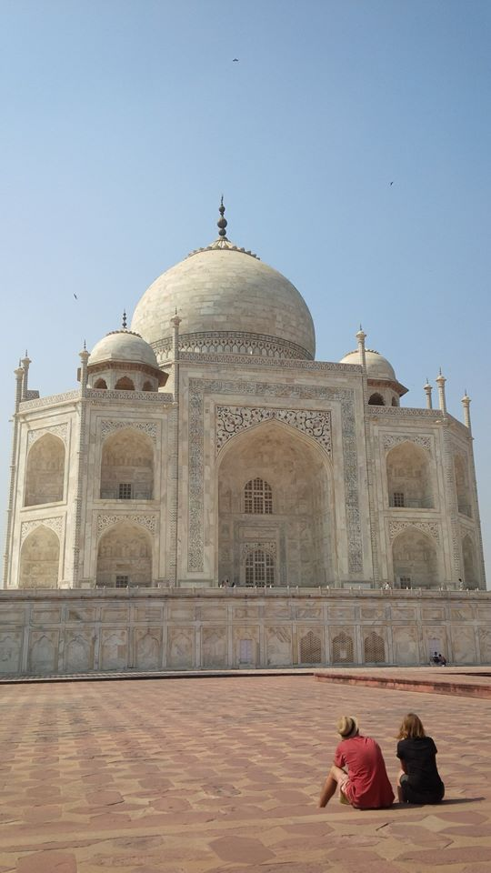 Couple in Love at Taj Mahal